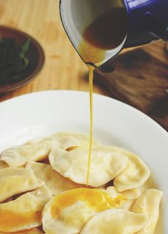 Pierogies with Herb Butter | The Sugar Hit