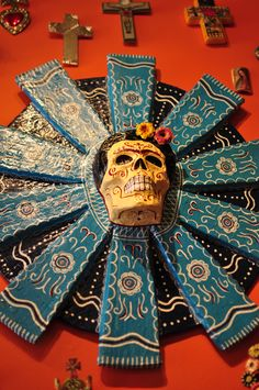 DIA DE LOS MUERTOS/DAY OF THE DEAD~Catrina Style Mexican Folkloric Décor