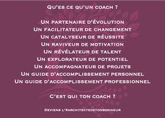 C'est qui ton coach ? .  Deviens l'#architectedetonbonheur ! . #coaching #lifechange #success #motivation #potential #project #guide #accomplishment Reiki, Coaching, Guide, Success, Motivation, Personal Attendant, Inspirational Quotes, Training, Determination
