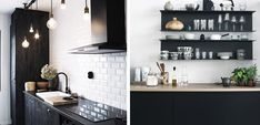 Cocinas elegantes en blanco y negro # Todos estamos de acuerdo en que el binomio blanco y negro es uno de los que más nos convence a la hora de decorar. Es todo un clásico y además se ha vuelto muy popular ... »