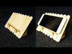 DIY: How to make tablet/smart phone holder using popsicle sticks - YouTube