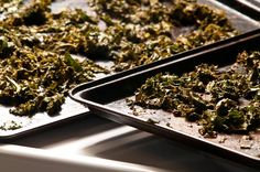vegan snack recipe, vegan jerky recipe, kale chips, vegetarian jerky recipe, vegan, vegetarian, gluten free, kale, Freshly Dried Kale Jerky