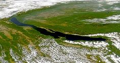 Lake Baikal from the space. Credit SeaWiFS Project NASA Goddard Space Flight Center and ORBIMAGE