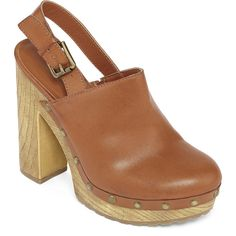a.n.a Rowan Platform Clogs ($40) ❤ liked on Polyvore featuring shoes, clogs, clog shoes, a.n.a. shoes, high heel platform shoes, buckle strap shoes and platform clogs