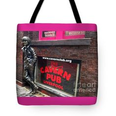 John leaning on the Wall of Fame Tote Bag by Joan-Violet Stretch