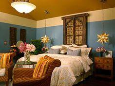 Bedroom A calm, peaceful, beach-house bedroom windows Spanish bedroom Spanish Bedroom, Mexican Bedroom, Spanish Home Decor, Moroccan Bedroom, Bedroom Wall Colors, Bedroom Decor, Bedroom Ideas, Master Bedroom, Mexican Interior Design