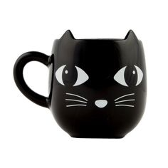 SASSE & BELLE CERAMIC BLACK CAT WITH EARS MUG CUP ANIMAL NOVELTY TEA COFFEE #SasseandBelle #Themed