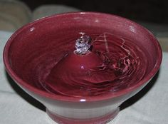 Handmade Foodsafe Ceramic Cat Fountain Cranberry by CatFountains, $90.00