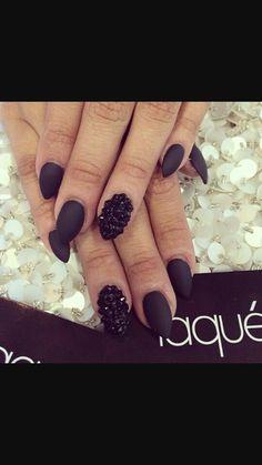 Perfect matte black nails
