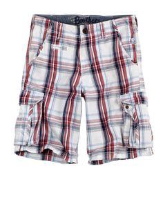 Boys Clothing | Casual Shorts | Plaid Cargo Short | ShopBrothers.com