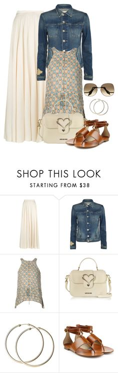 """""""Untitled #1409"""" by gallant81 ❤ liked on Polyvore featuring Lanvin, L'Agence, 10 Crosby Derek Lam, Love Moschino, Michael Kors and Victoria Beckham"""