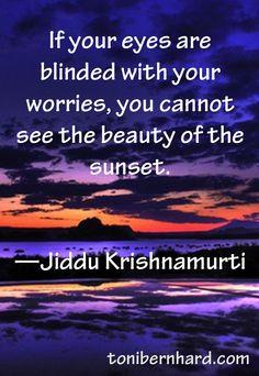 Jiddu Krishnamurti Heaven help the worriers..