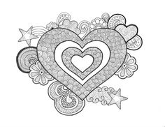 Hearts - An original artwork by Cat Magness