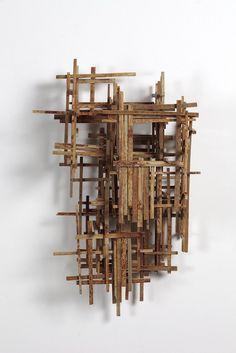 Jason Fitzgerald Abandoned, timber, nails and rust by Art Sculpture, Abstract Sculpture, Wall Sculptures, Metal Design, Design Art, Creation Deco, Found Art, Driftwood Art, Wood Wall Art