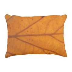 "Orange Leaf Cotton Accent Pillow 16"" x 12"" #pillow #accentpillow #throwpillow #homedecor #interiordesign #fashion #style #trend #homedecorating #interiordecorating #roommakeover #orange #leaf #nature #fall"