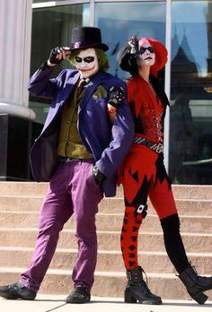 Déguisement Halloween pour couple : Joker et Harley Qinn. 17 idées de déguisements pour couples qui feront de vous les stars de la soirée