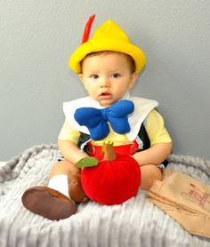 Pinocchio inspired  costume babies boys toddler Kids children infant Halloween costumes.