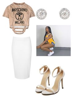 """With You // Drake & Partynextdoor"" by tiaramb11 ❤ liked on Polyvore featuring Moschino and Glamorous"
