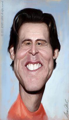 Caricatura de Jim Carrey.