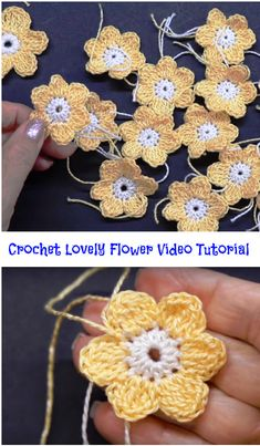 crochet lovely flower