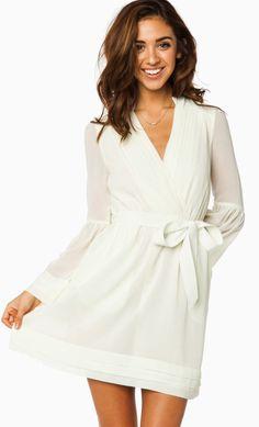 Rorey Wrap Dress in Ivory.. Wedding rehearsal dress