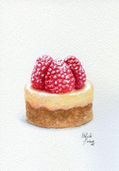 Raspberry Cheesecake Painting by ForestSpiritArt