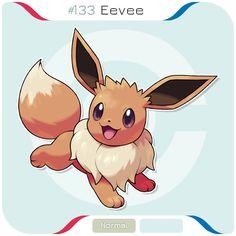 Eevee for my Kanto Project where I draw every Kanto Pokémon in my style. Eevee Cute, Pokemon Eeveelutions, Eevee Evolutions, Charmander, Cute Pokemon, Pikachu, Kawaii Chibi, Pokemon Fan Art, Pokemon Pictures