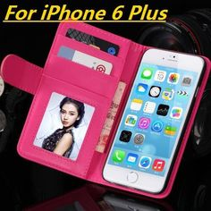 * iPhone Case* i6 6s 4.7/Plus Fashion Wallet Flip PU Leather Case With Card Slot Photo Frame Stand