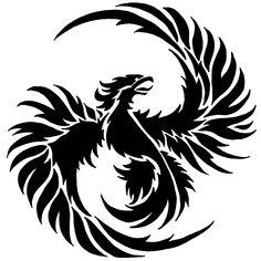Phoenix Bird 2 Stencil | SP Stencils