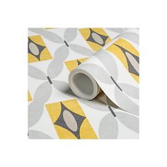 Colours Orsino Yellow Geometric Wallpaper | Departments | DIY at B&Q