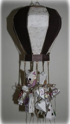 Template for a 3D paper hot air balloon by My Craft and Garden Tales