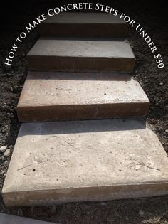 how to make concrete steps | Inexpensive DIY Concrete Steps- Tutorial » How to Make Concrete Steps ...
