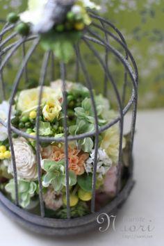 鳥かごのリングピロー Bird Cage Ringpillow              String of Pearls  ミドリノスズ