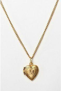 Initial Heart Locket Necklace - StyleSays