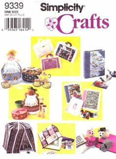 Simplicity Sewing Pattern 9339 Decorative Covers Bird Cage Sewing Machine Casserole Books