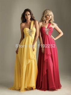 Custom Made Free Shipping Charming Sexy One-Shoulder Chiffon Bridesmaid  Dresses Floor Length A- 7d830df0f796