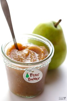 This stovetop pear butter recipe is a great way to use up leftover pears and can be ready to go in just 1 hour!