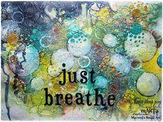 Marta Lapkowska: Just breathe - easiest background ever - VIDEO tutorial