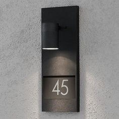 Exterior wall mounted lights for your house and garden. Lighting Styles - Specialists in Exterior Lighting. Illuminated House Numbers, Led House Numbers, House Number Plates, Door Numbers, Address Numbers, Lighting Uk, Porch Lighting, Types Of Lighting, Luces Led Exterior