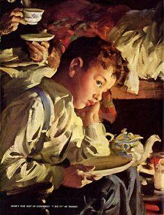 Is Gran'pa Really Dead? artist Haddon Sundblom  1848 -1933  Great American Art