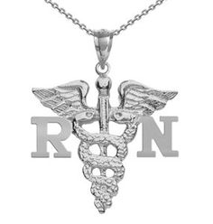 NursingPin  Registered Nurse RN Charm with Necklace in Sterling Silver  16IN -- Click image for more details.Note:It is affiliate link to Amazon. #tagblender