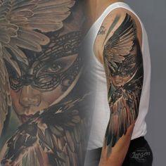 Beautiful masked angel by Levgen...