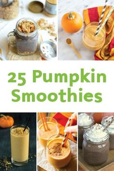 The weather may be cooling down but that doesn't mean you can't indulge yourself in a creamy, cold treat once in awhile. These 25 Pumpkin Smoothie Recipes are transformed for fall—and that's all the excuse you need! Grab one for a snack or breakfast on the go.