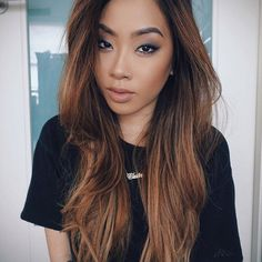 love the bronze Asian look, can do a little darker eye here, but with the hair and lip seems more casual