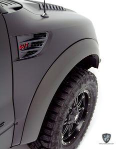Ford SVT Raptor Matte + Satin Wrap and Custom Graphics at NorthWest Auto Salon - NorthWest Auto Salon Raptor Toys, Svt Raptor, Custom Truck Bumpers, Custom Trucks, Black Ford Raptor, Ford Svt, R Vinyl, Desert Design, Ford F Series