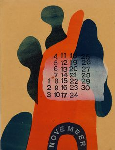 Werkman - Turkenkalender (Dutch Resistance Songs Calendar) printed 2 days before his arrest and eventual execution by the Gestapo for printing illegal propaganda, 1945 Poster Ads, Poster Prints, Date, Graphic Design Illustration, Illustration Art, Remember Day, Print Calendar, Dutch Artists, Letters And Numbers