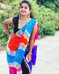 Saree Styles, Tie Dye Skirt, Print Patterns, Ethnic, Stylists, Sari, India, Saree Fashion, Skirts