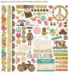 Simple Stories Fabulous Collection Fundamental Stickers
