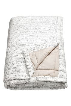 Dotted Bedspread - White/black dotted - Home All | H&M CA 1