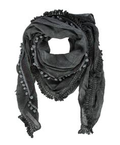 Big Embroidered Scarf Charcoal - Jenterommet Charcoal, Big, Fashion, Moda, Fashion Styles, Fashion Illustrations